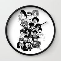 trex Wall Clocks featuring Under the Influence #2 by Emilythepemily  by Emilythepemily