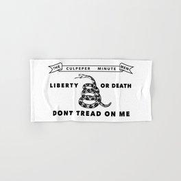 Culpeper Minutemen flag - Authentic version Hand & Bath Towel