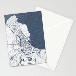 Palermo City Map of Sicily, Italy - Coastal Stationery Cards