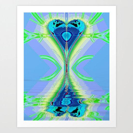 Reflected Heart Art Print