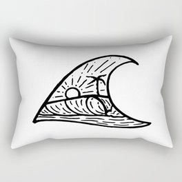 Wave in a Wave Rectangular Pillow