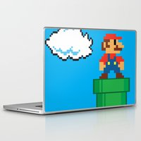 mario bros Laptop & iPad Skins featuring Mario Bros by WaXaVeJu
