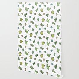 Cartoony Cacti pattern Wallpaper