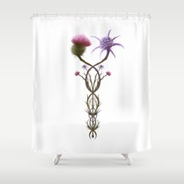 Scottish Thistle and Italian Cardo Shower Curtain