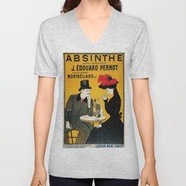 Vintage poster - Absinthe Unisex V-Neck