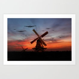 The Bombers Are Coming Art Print