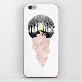 Through Darkness into the Light iPhone Skin