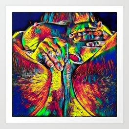 4281s-RES Abstract Pop Color Erotica Pleasuring Psychedelic Yoni Self Love Art Print