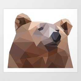 Poly Bear Art Print