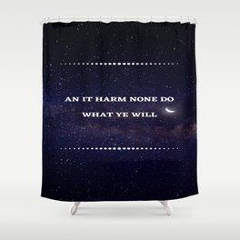 An it harm none, moon Shower Curtain