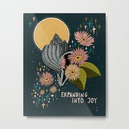 Expanding into joy Metal Print