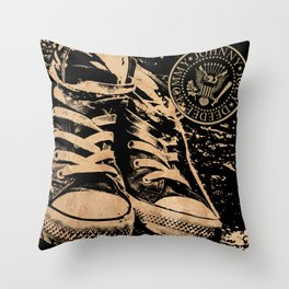 Ramones Shoes Throw Pillow