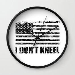 I dont kneel Wall Clock