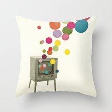 Colour Television Throw Pillow