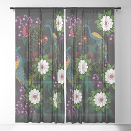 Fusion Of Traditional And Modern Era Print Of Bharat Sheer Curtain