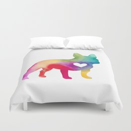 French Bulldog Love Duvet Cover