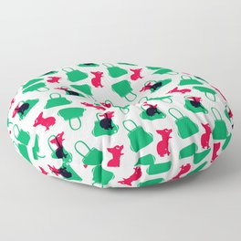 Angry animals: chihuahua - little green bag Floor Pillow