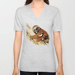 Tree Sloth Unisex V-Neck