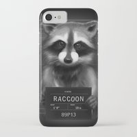 rocket raccoon iPhone & iPod Cases featuring Raccoon Mugshot by Company of Wolves