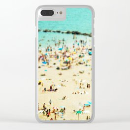 Coney Island Beach 2 Clear iPhone Case