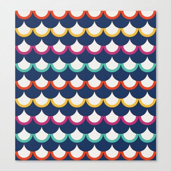 Retro Scales Canvas Print