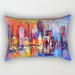 Evening new York Rectangular Pillow