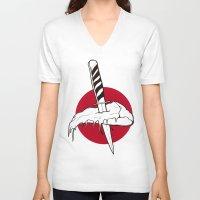 kill la kill V-neck T-shirts featuring KILL by Sheloner.