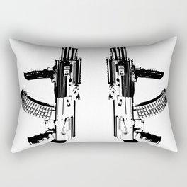 BLACK AK 47 Rectangular Pillow