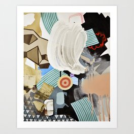 White Out Wipe Out Art Print