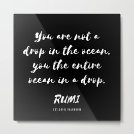 37   Rumi Quotes Good Vibes 190514 Metal Print