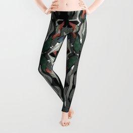 Black Swan Floral- Fantasy Decoupage Leggings