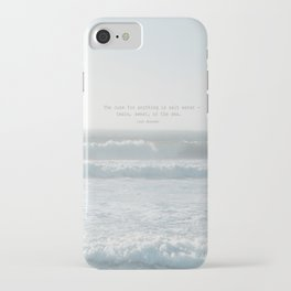 The cure for anything is salt water -  tears, sweat, or the sea. isak dinesen iPhone Case