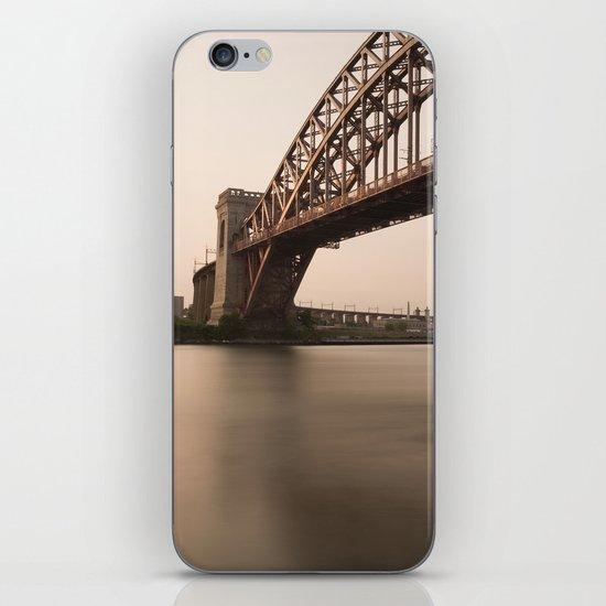 Hell Gate Bridge (NYC) at Sunset iPhone & iPod Skin