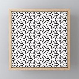 Pattern Abstrait Formes Noir Framed Mini Art Print