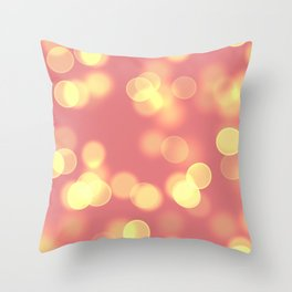 Soft Lights Bokeh 4B Throw Pillow