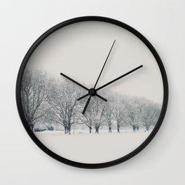 a snow day in Cambridge Wall Clock