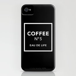 Black Coffee No5 iPhone Case