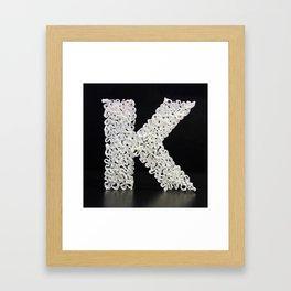 100 Days of Hybrid Type: K Framed Art Print