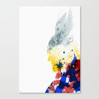 nordic Canvas Prints featuring Nordic Star by Arian Noveir