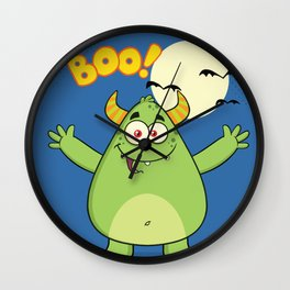 Monster Boo Wall Clock