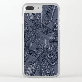Snow Marries Stone Clear iPhone Case