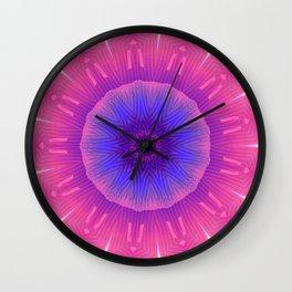 Cosmic Flower Wall Clock