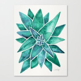 Aloe Vera – Turquoise Palette Canvas Print