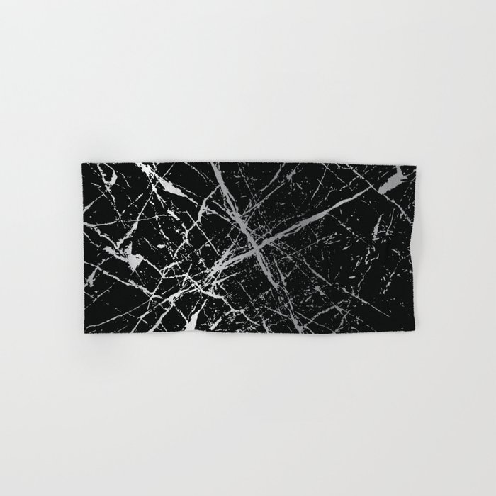 Silver Splatter 090 Hand & Bath Towel
