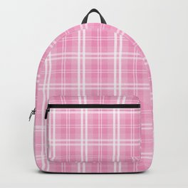Bright Chalky Pastel Magenta Tartan Plaid Backpack