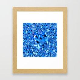 SEPTEMBER BLUE TOPAZ GEMMY  BIRTHSTONE ART Framed Art Print