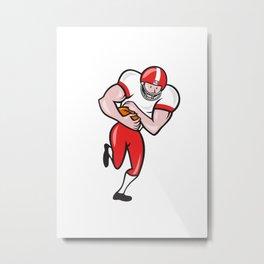 American Football Running Back Ball Cartoon Metal Print