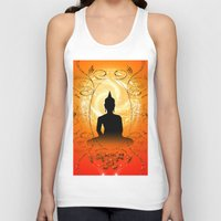 buddha Tank Tops featuring Buddha  by nicky2342