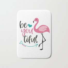 Beautiful Flamingo, Cute Pink Flamingo Bath Mat