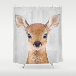 Baby Deer - Colorful Shower Curtain